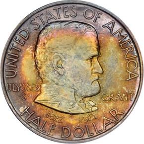 1922 GRANT 50C MS obverse