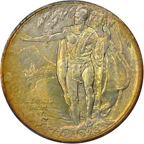 1928 HAWAII 50C MS reverse