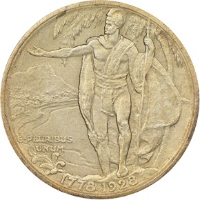 1928 HAWAII 50C PF reverse