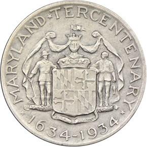 1934 MARYLAND 50C PF reverse