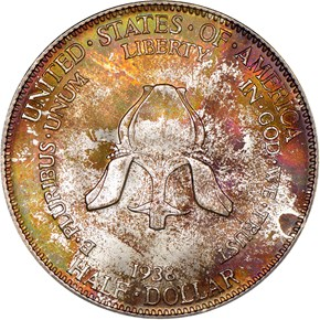 1938 NEW ROCHELLE 50C MS reverse