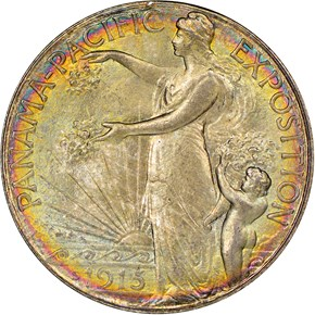 1915 S PANAMA-PACIFIC 50C MS obverse