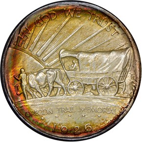 1926 OREGON TRAIL 50C MS reverse