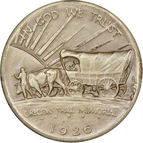 1926 OREGON TRAIL 50C PF reverse