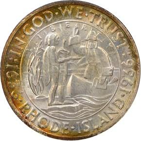 1936 RHODE ISLAND 50C MS obverse