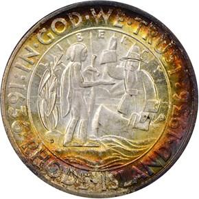 1936 D RHODE ISLAND 50C MS obverse