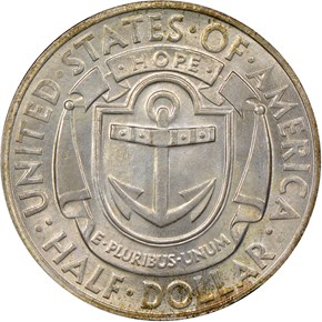 1936 D RHODE ISLAND 50C MS reverse