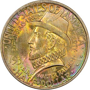 1937 ROANOKE 50C MS obverse