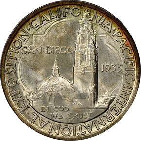 1935 S SAN DIEGO 50C MS reverse