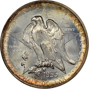 1935 TEXAS 50C MS obverse