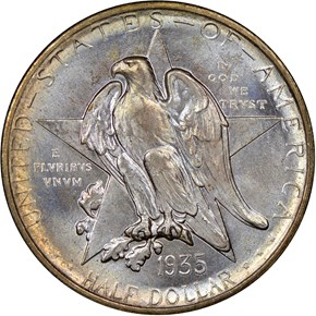 1935 S TEXAS 50C MS obverse