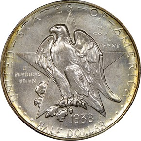 1938 TEXAS 50C MS obverse