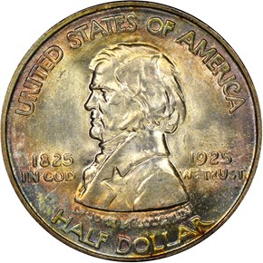 1925 FORT VANCOUVER 50C MS obverse