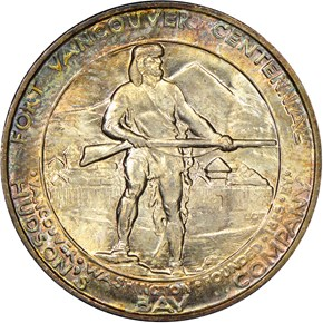 1925 FORT VANCOUVER 50C MS reverse