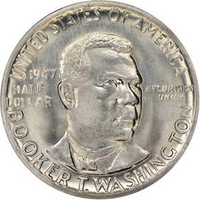 1947 S BOOKER T. WASHINGTON 50C MS obverse