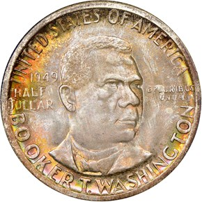 1949 S BOOKER T. WASHINGTON 50C MS obverse