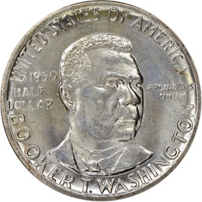 1950 BOOKER T. WASHINGTON 50C MS obverse