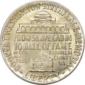 1950 D BOOKER T. WASHINGTON 50C MS reverse