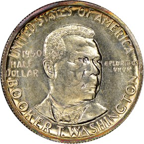 1950 S BOOKER T. WASHINGTON 50C MS obverse