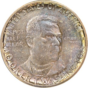 1951 BOOKER T. WASHINGTON 50C MS obverse