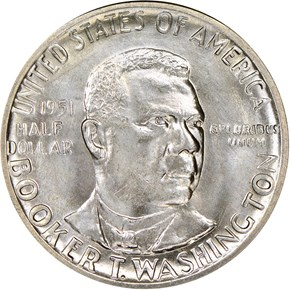 1951 D BOOKER T. WASHINGTON 50C MS obverse