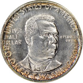 1951 S BOOKER T. WASHINGTON 50C MS obverse