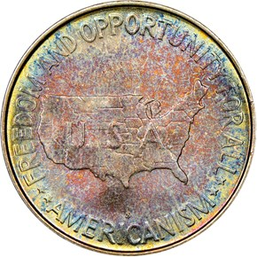 1952 S WASHINGTON-CARVER 50C MS reverse
