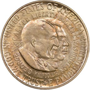 1953 WASHINGTON-CARVER 50C MS obverse