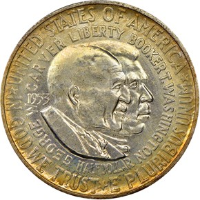 1953 D WASHINGTON-CARVER 50C MS obverse
