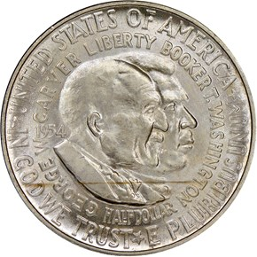 1954 WASHINGTON-CARVER 50C MS obverse