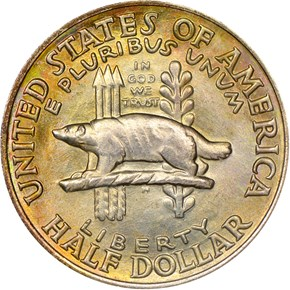 1936 WISCONSIN 50C MS obverse