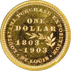 1903 JEFFERSON LOUISIANA PURCHASE G$1 PF reverse