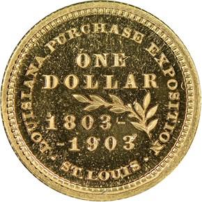1903 MCKINLEY LOUISIANA PURCHASE G$1 PF reverse