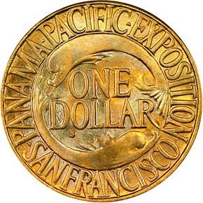 1915 S PANAMA-PACIFIC G$1 MS reverse