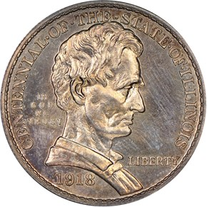1918 LINCOLN-ILLINOIS 50C SP obverse