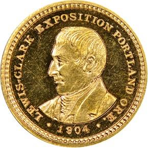 1904 LEWIS & CLARK G$1 PF obverse