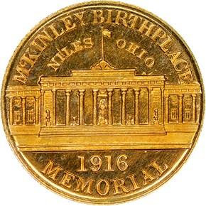 1916 MCKINLEY G$1 PF reverse