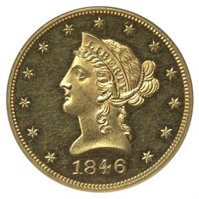 1846 $10 PF obverse