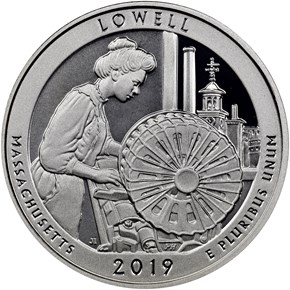 2019 S Silver Lowell Historical Park 25C PF reverse