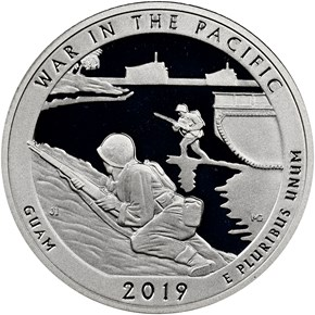 2019 S Silver Pacific Historical Park 25C PF reverse