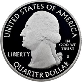 2019 S Silver Pacific Historical Park 25C PF obverse