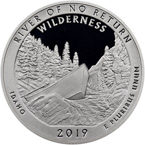2019 S Silver River of No Return 25C PF reverse
