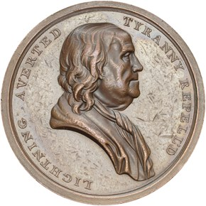 UNDATED J-CM-7, AE BENJAMIN FRANKLIN 40mm MS obverse
