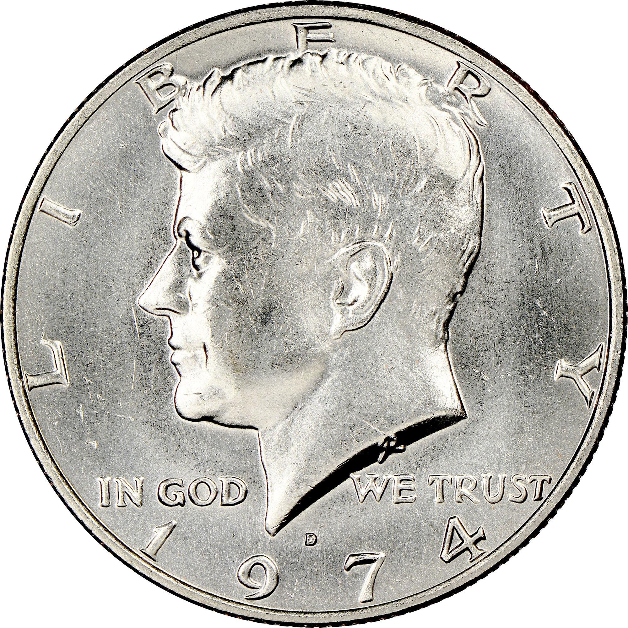 1974-D Denver Mint Kennedy Half Dollar BU