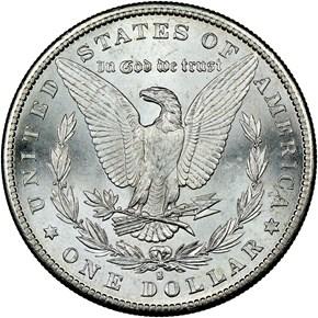 1881 S $1 MS reverse