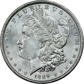 1889 $1 MS obverse