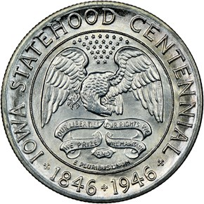 1946 IOWA 50C MS obverse