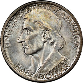 1936 D BOONE 50C MS obverse