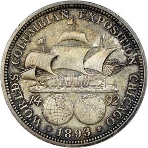 1893 COLUMBIAN 50C MS reverse