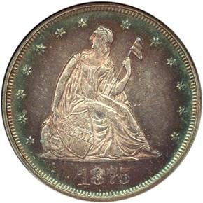 1875 20C MS obverse